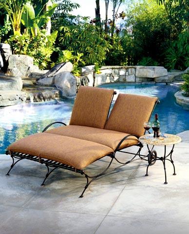 Transat relax et fauteuil de piscine en fer forg