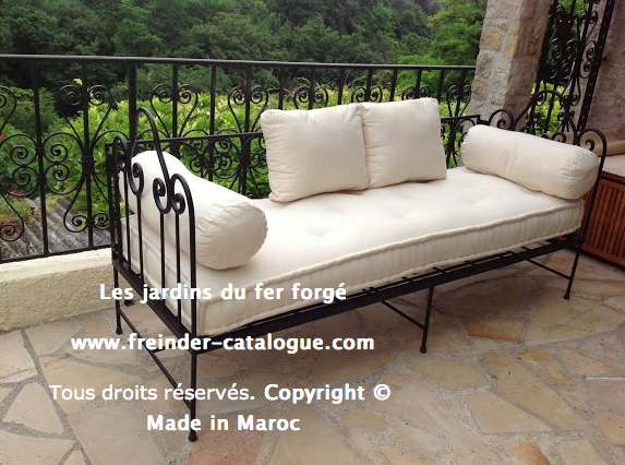 Mobilier de jardin en fer forg canap meubles dcoration for Salon fer forge catalogue