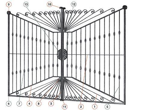 Fer forg maroc for Porte de jardin en fer forge
