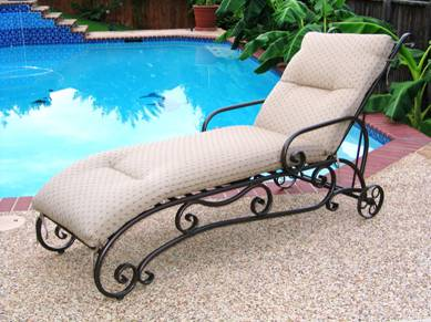 Preview for Chaise longue fer forge