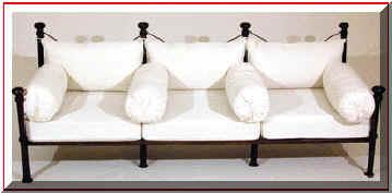 Fabricant, canapé, en, fer, forgé, siège, banc, banquette, magasin ...