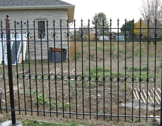 Grille, clôture, en, fer, forgé, extérieur, jardin, villa ...