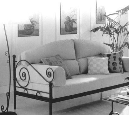 Fabricant, canapé, en, fer, forgé, siège, banc, banquette ...